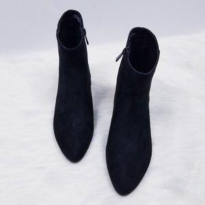 BAMBOO Shoes - Chain embelished heel ankle booties NWOB